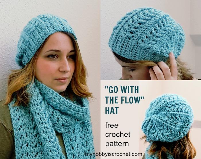 crochet hat patterns go with the flow hat free crochet pattern on myhobbyiscrochet.com apxywfd