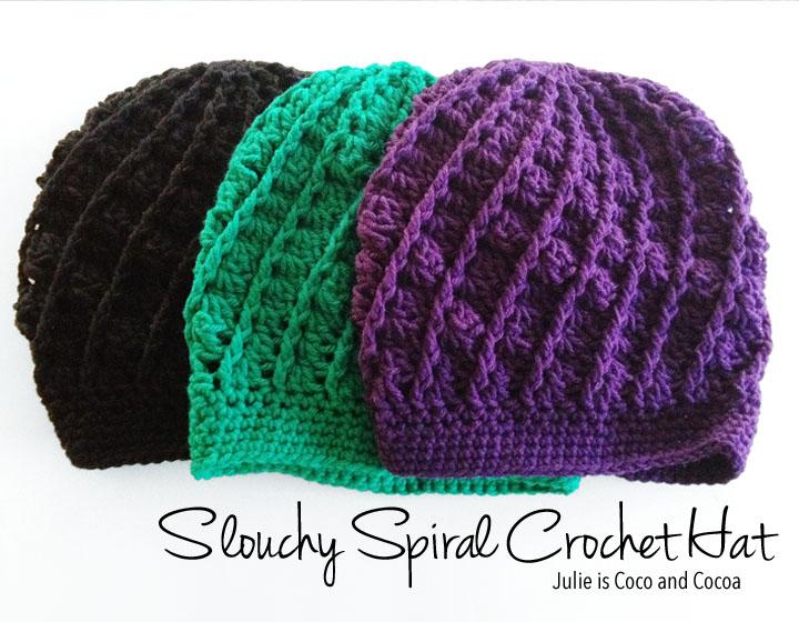 crochet hat patterns slouchy spiral crochet hat (free