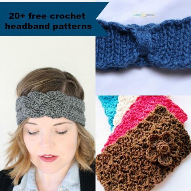 crochet headband pattern 20-plus-free-and-easy-crochet-headband-patterns- uvxgayb
