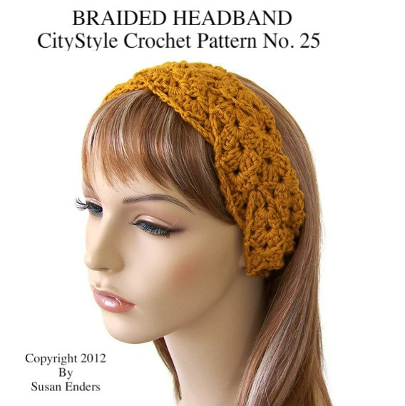 crochet headband pattern, braided headband, crochet headwrap, headband  pattern, crochet headband, womens mslidgt
