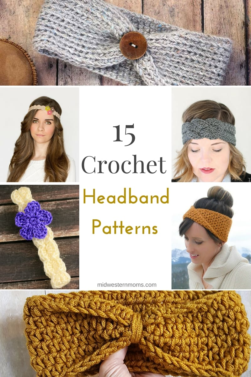 crochet headband pattern free crochet headband patterns! 15+ great crochet patterns in one place! khpijtl