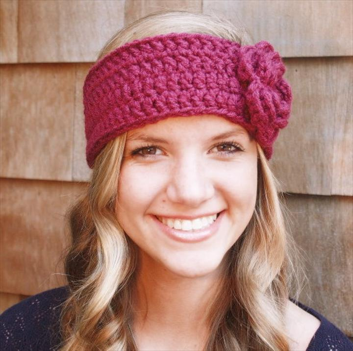 crochet headbands with flowers mktnsua