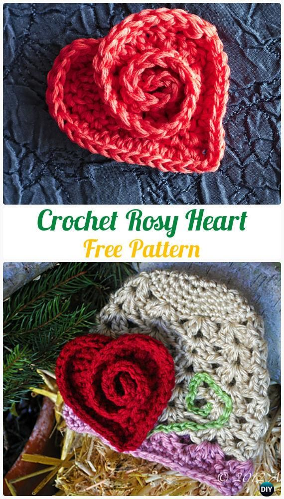 crochet heart applique free patterns tsrtvsr
