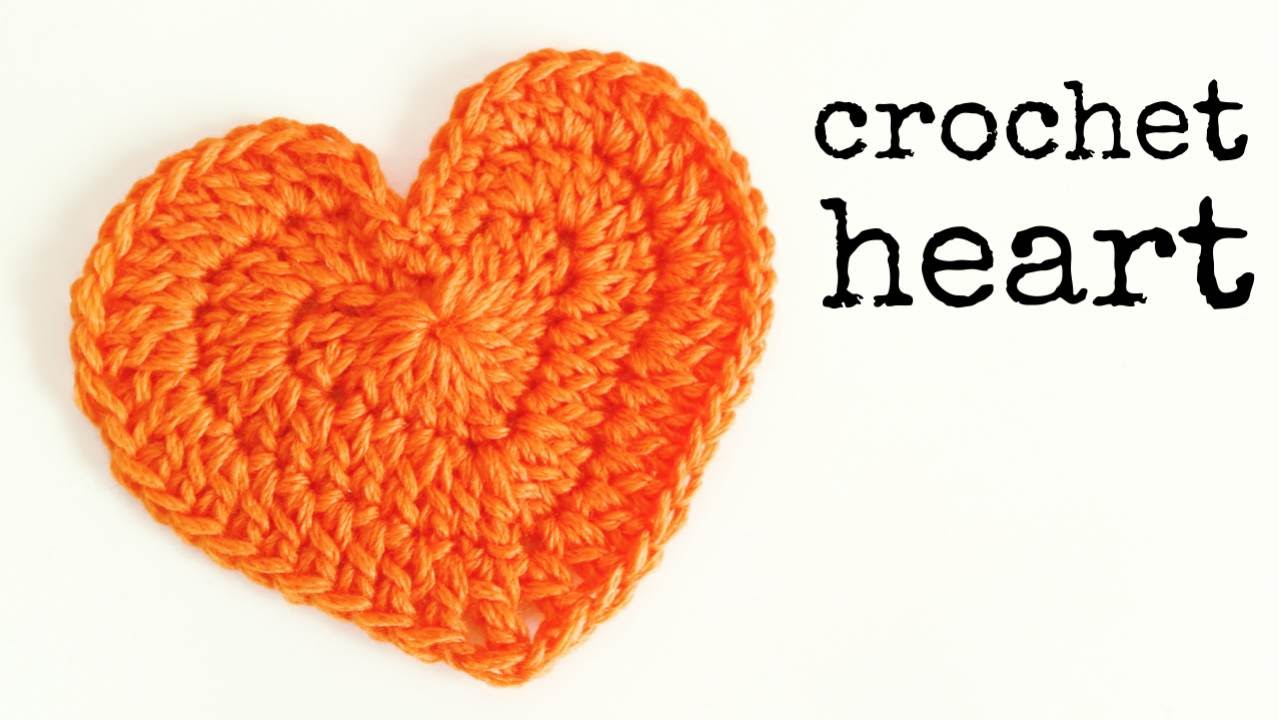 crochet heart how to crochet a heart (medium size) ♥ crochet lovers - youtube kwypbzp