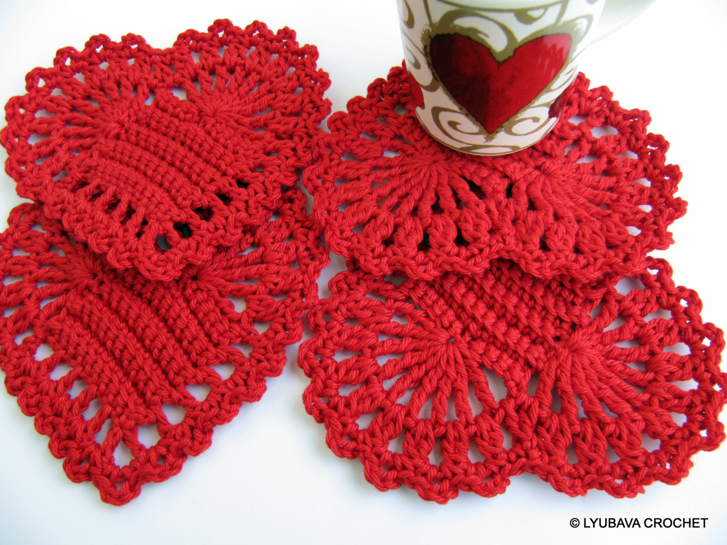 Crochet Heart Pattern 🔎zoom xctrdjn