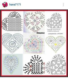 Crochet Heart Pattern crochet lace hearts with diagram kkkvkxd