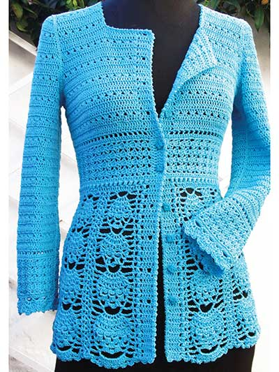 crochet jacket blue lace jacket. loading. technique: crochet fhekzpj