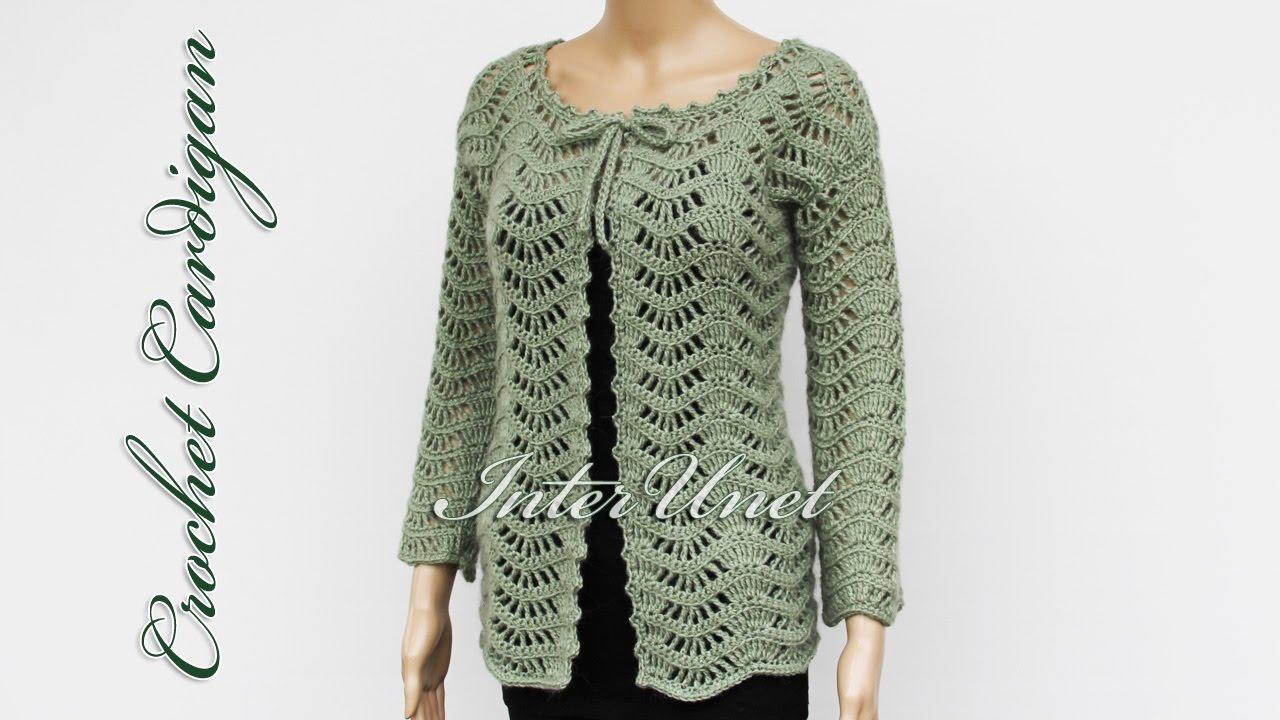 crochet jacket lace jacket cardigan crochet pattern -