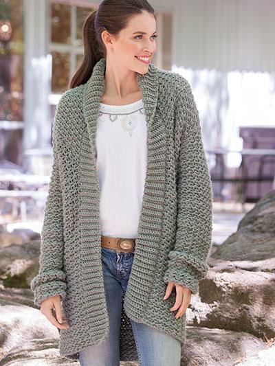 crochet jacket weekend casual hooded sweater crochet pattern