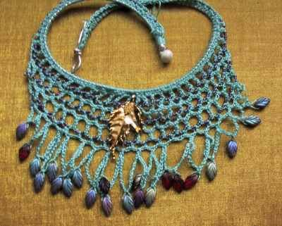 crochet jewelry collar | tatting | pinterest | free pattern, crochet necklace and crochet zosjjac
