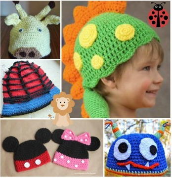 crochet kids adorable animal hats 55 free crochet hat patterns for kids copmgyl