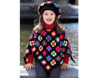 crochet kids granny square kids poncho pattern (crochet) dfoahkz