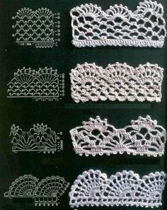 Crochet Lace Patterns – in Fabric Material