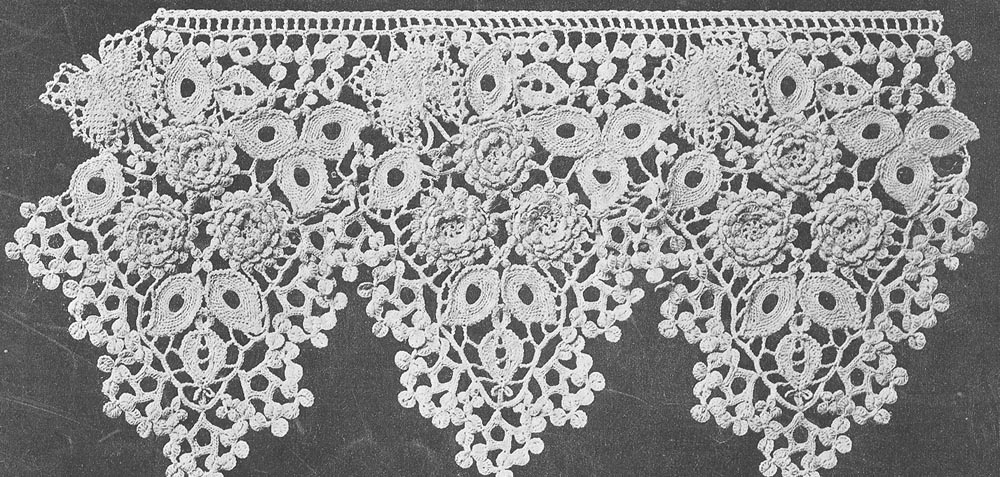crochet lace pattern pdf 1601 antique 1916 6 1/2 inch butterfly lace trim crochet pattern ogjjwpt