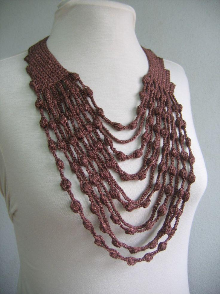 crochet necklace maxicolar (collar or necklace) -free crochet pattern- ozfonjo