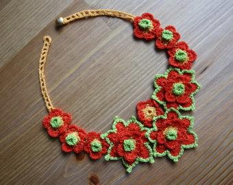 crochet necklace zphgtwu