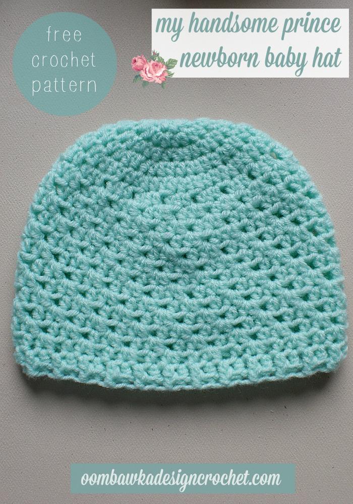 crochet newborn hat my handsome prince newborn baby hat - featuring anne geddes yarn  #redheartyarns epaaitm