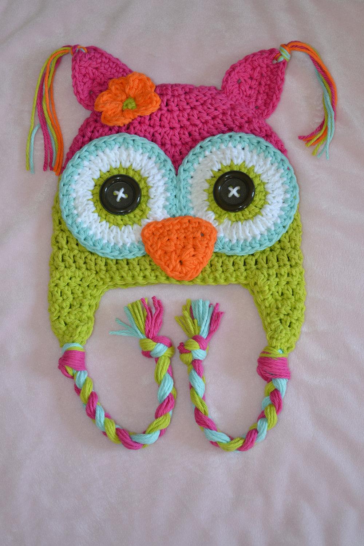 Excelente Owl Baby Hat Knitting Pattern Colección de Imágenes ...