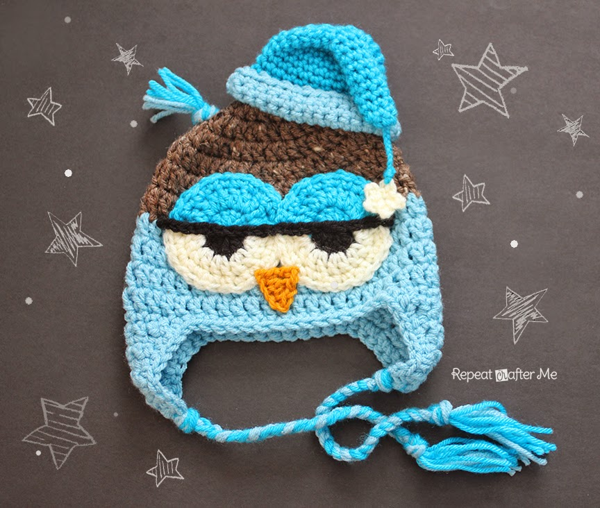 Baby Crochet Owl Hat Pattern