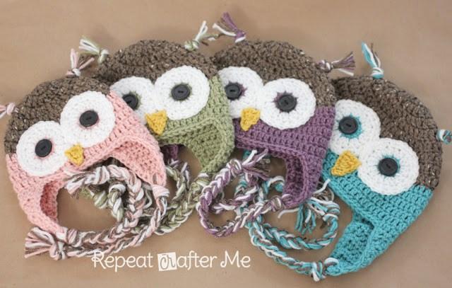 crochet owl hat pattern in newborn-adult sizes wxaroxt