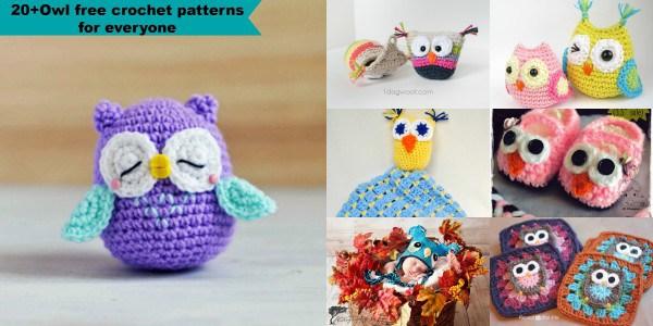 Crochet owl pattern 20+ owl free crochet patterns eedupox