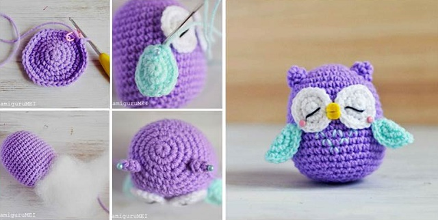 Crochet owl pattern diy crocheted owls free patterns3