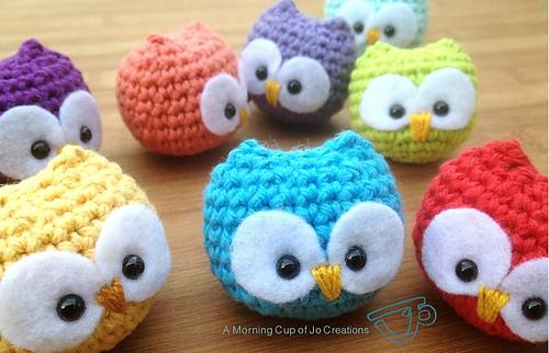 Crochet owl pattern ravelry: baby owl ornaments pattern by josephine wu obudwin