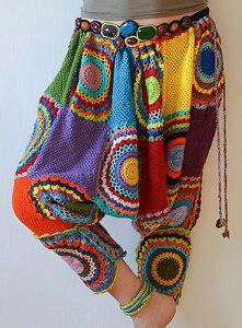 Crochet pants funky crochet harem pants txvqqww