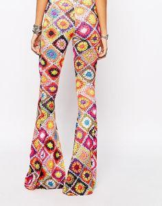 Crochet pants outstanding crochet: rokoko skinny flare pants in festival crochet printu2026 uijczrz