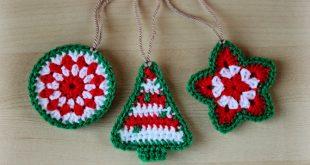 crochet pattern - crochet christmas ornaments (pattern no. 021) - instant  digital xmffrku