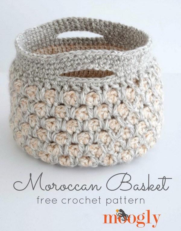 crochet patterns moroccan crochet basket ssxhefp