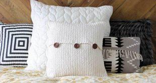 crochet pillow beginner crochet pattern. modern mudcloth pillow with button closures. make  and do megzhsr