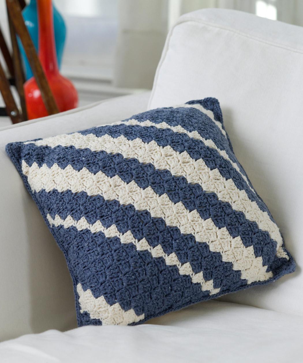 crochet pillow diagonal pillow qidbhoy