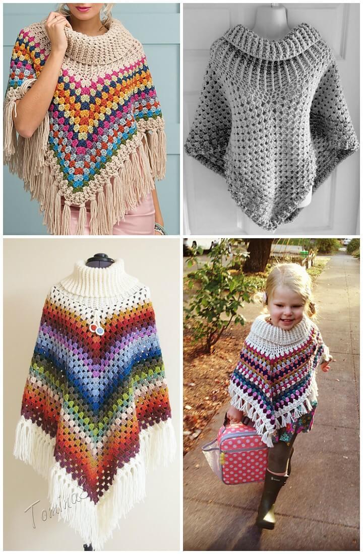 crochet poncho pattern crochet cowl neck poncho: free crochet cowl neck poncho pattern zvznjoi