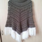 Woman and Kids crochet poncho pattern