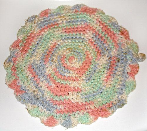 crochet pot holders pastel circular pot holder cqidyaz