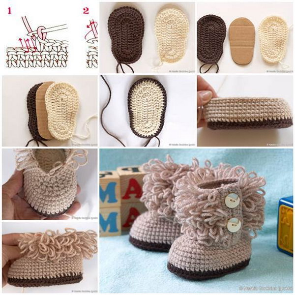 crochet projects diy ugg style crochet booties gdskcwx