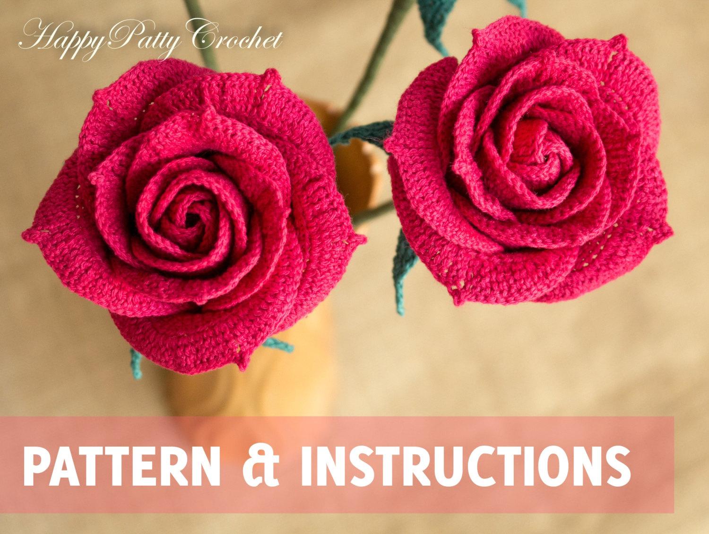 crochet rose 🔎zoom fzmdhkr
