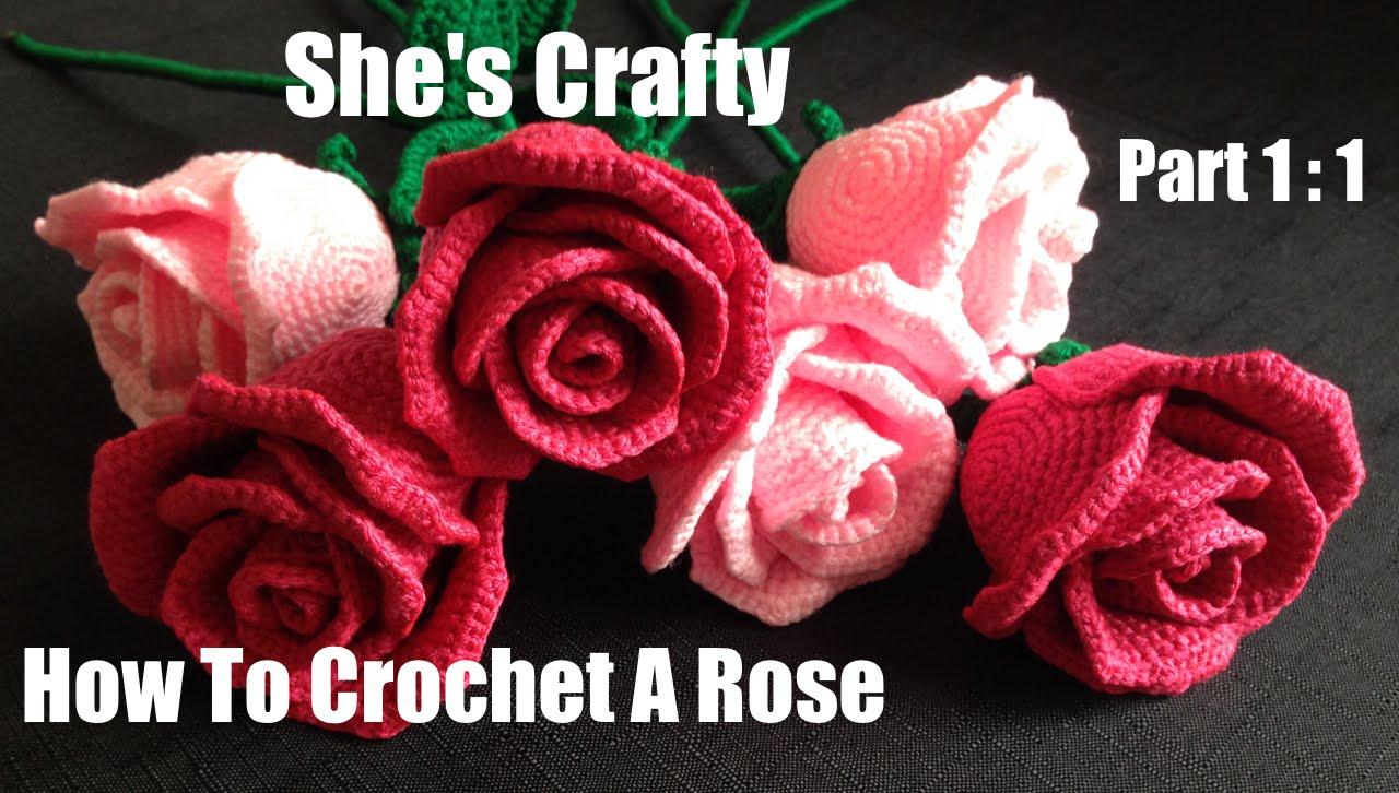 crochet rose how to crochet a rose: easy crochet lessons to crochet flowers part 1:1 ybnpzls