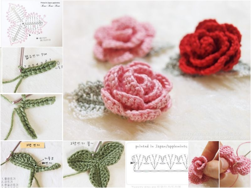 crochet rose pattern diy crochet rose with free pattern udvdlfm