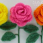 Handicraft Multi use Crochet Rose Pattern