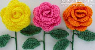 crochet rose pattern diy learn how to crochet a beginner easy flower - rose rosas bouquet whnukzw