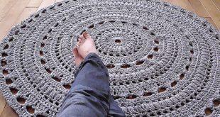 crochet rug patterns crochet rug pattern with fabric strips zownctn