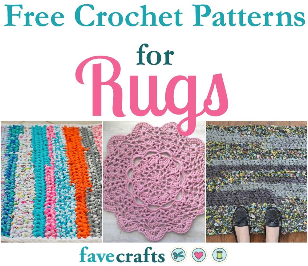 crochet rugs 17 free crochet patterns for rugs | favecrafts.com rnjebuy