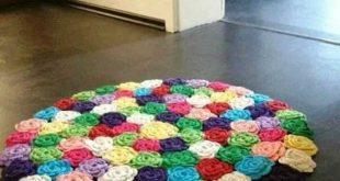 crochet rugs crochet rose rug tutorial in rainbow colors spkyzye