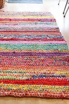 crochet rugs handmade crochet rug - rag rug out of t-shirts dyigpcq
