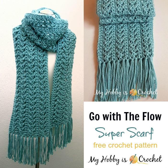 crochet scarves go with the flow super scarf - free crochet pattern | red heart jfeqwda