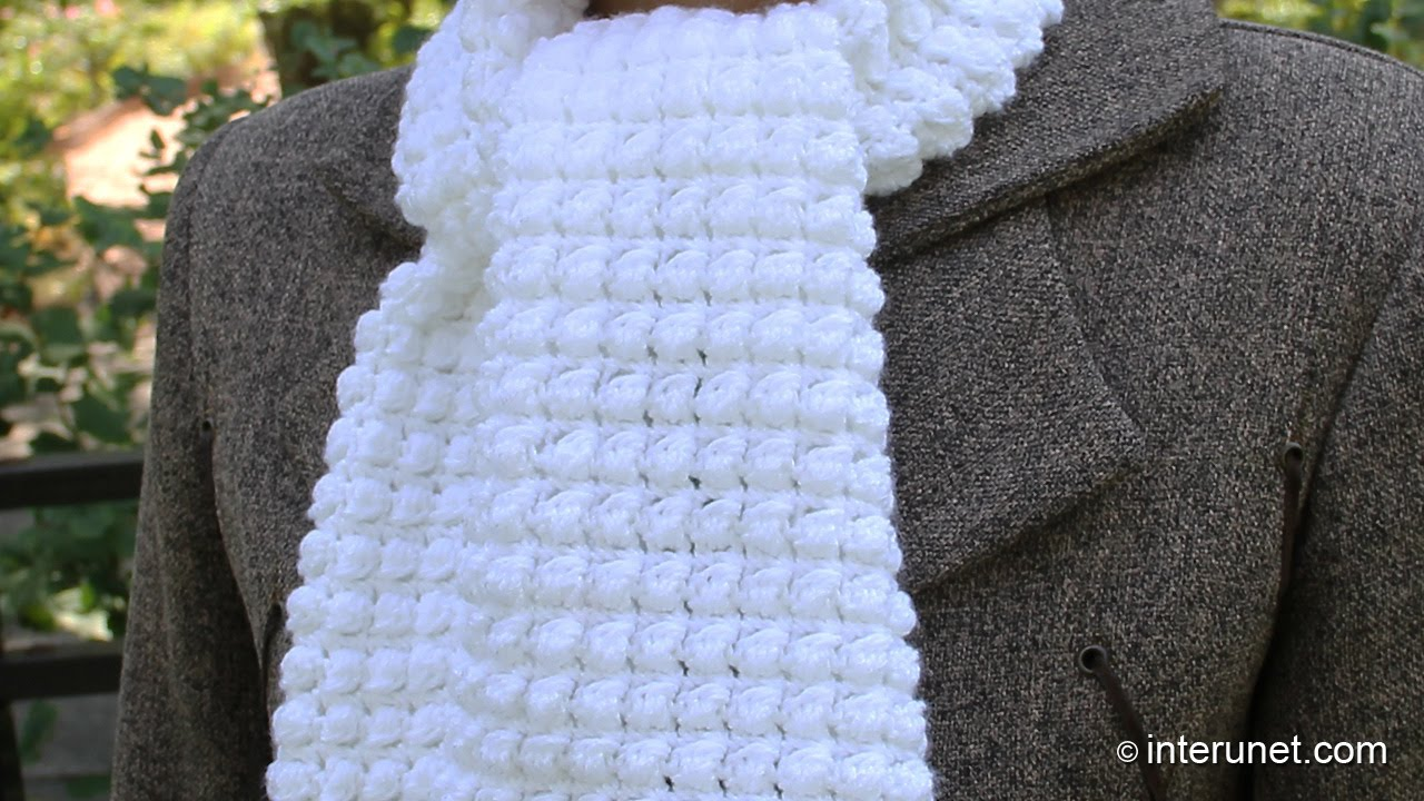 crochet scarves how to crochet a scarf -