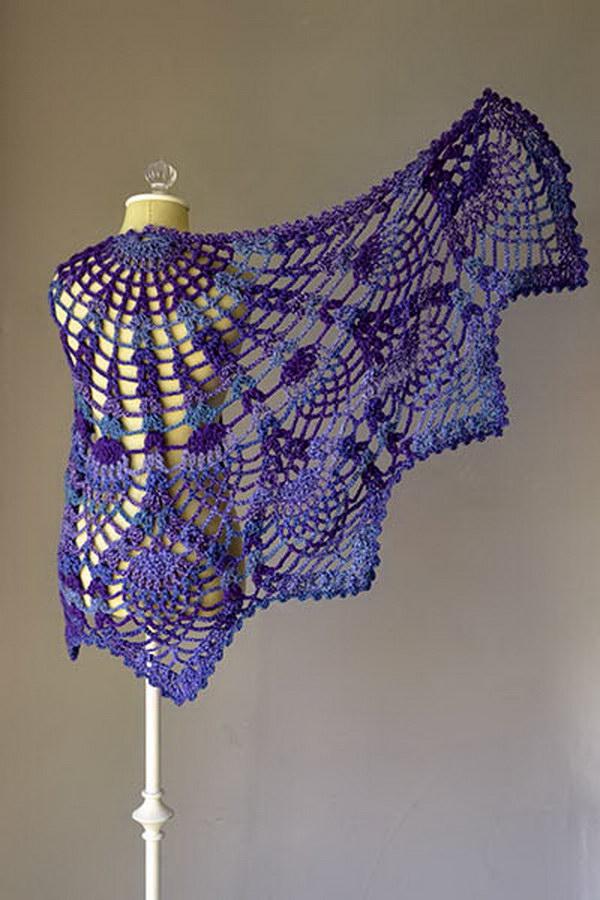 crochet shawl pineapple peacock shawl lfxculk
