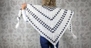 crochet shawl put a modern spin on a crochet classic with this simple crochet granny spzxyut